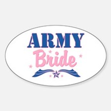 Star Army Bride Oval Decal