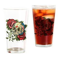 Unique Rose sugar skulls Drinking Glass