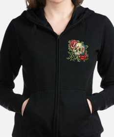 Cool Sugar skulls Women's Zip Hoodie