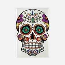 Unique Day of the dead Rectangle Magnet