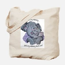 Mother Elephant And Baby Tote Bag