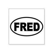 "Cute Fred thompson for president Square Sticker 3"" x 3"""