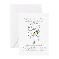 wise spinner.png Greeting Cards