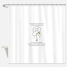 wise spinner.png Shower Curtain
