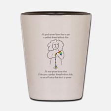 wise spinner.png Shot Glass