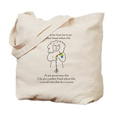 wise spinner.png Tote Bag