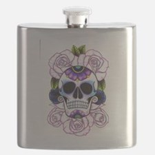 sugar skull and roses Flask