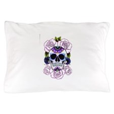 sugar skull and roses Pillow Case