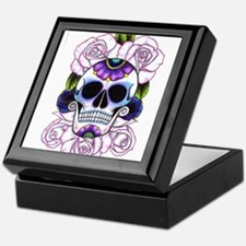 sugar skull and roses Keepsake Box