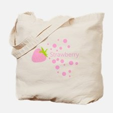 Pink strawberry Tote Bag