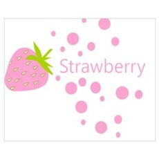 Pink strawberry Framed Print