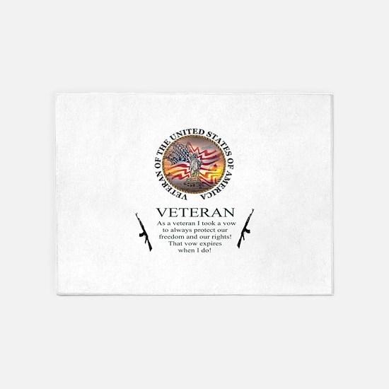 Veteran's Vow 5'x7'Area Rug