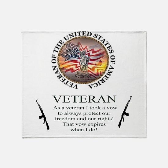 Veteran's Vow Throw Blanket