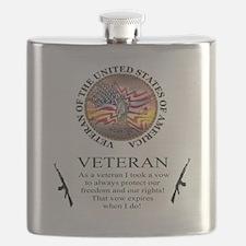 Veteran's Vow Flask