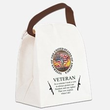 Veteran's Vow Canvas Lunch Bag