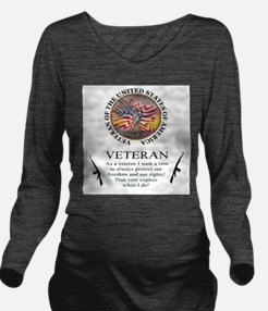 Veteran's Vow Long Sleeve Maternity T-Shirt