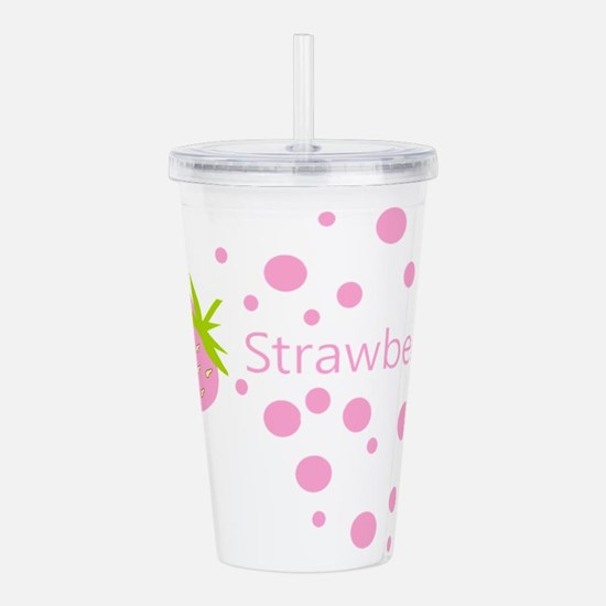 Pink strawberry Acrylic Double-wall Tumbler