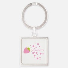 Pink strawberry Keychains
