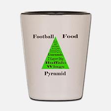 Football Food Pyramid Shot Glass