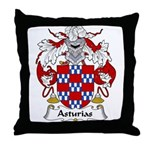 Asturias Family Crest Throw Pillow