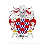 Asturias Family Crest Small Poster