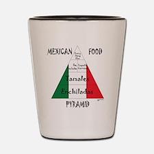 Mexican Food Pyramid Shot Glass