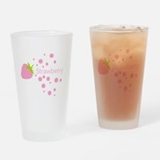 Pink strawberry Drinking Glass