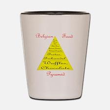 Belgian Food Pyramid Shot Glass