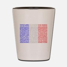 French Cities Flag Shot Glass