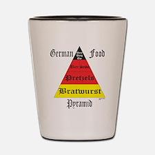 German Food Pyramid Shot Glass
