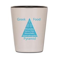 Greek Food Pyramid Shot Glass