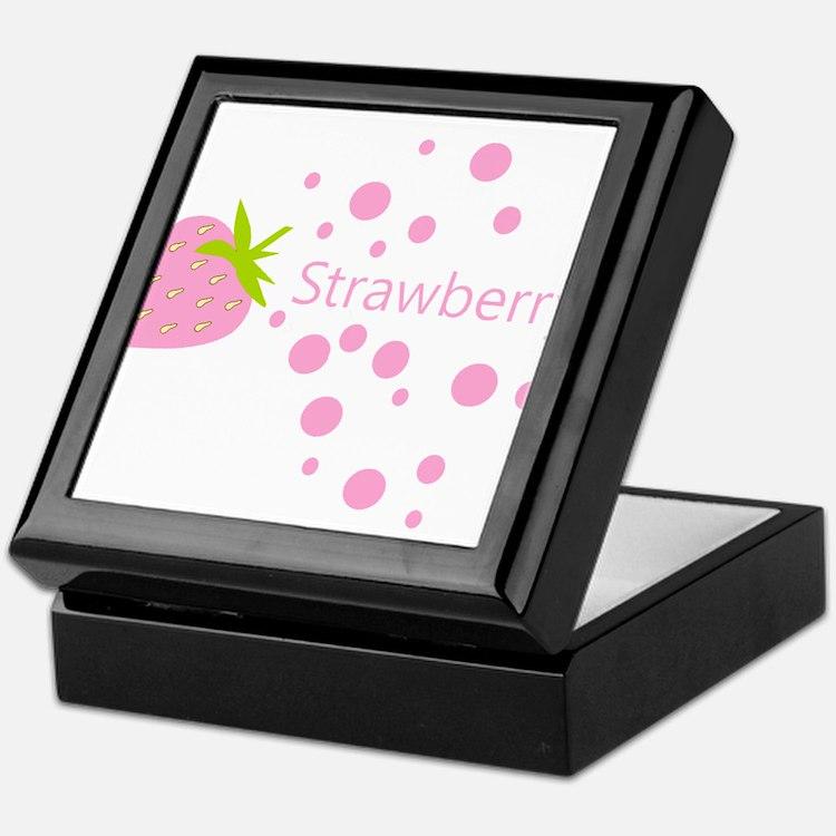 Pink strawberry Keepsake Box