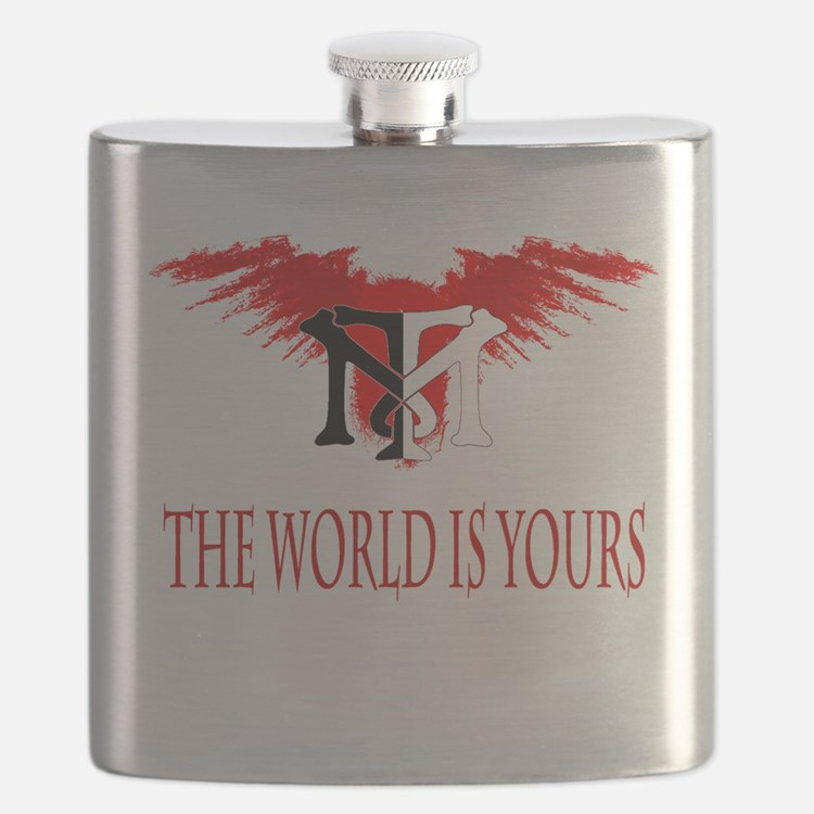 Tony Montana Logo Tshirt.gif Flask