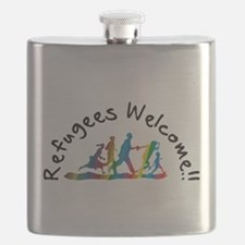 Refugees Welcome Flask