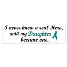 Never Knew A Hero OC (Daughter) Bumper Car Sticker