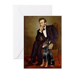 Lincoln's Doberman Greeting Cards (Pk of 20)