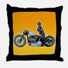 Dobercycle Throw Pillow