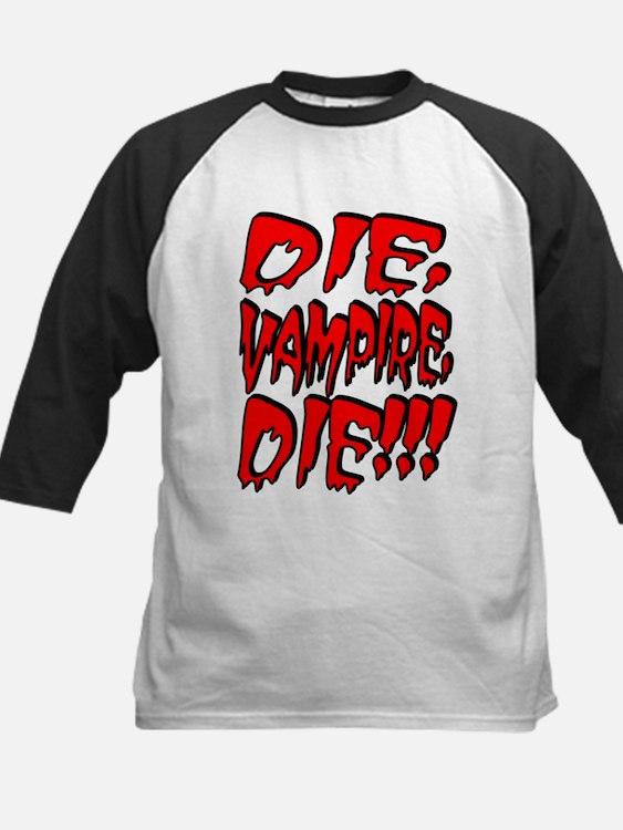 Die, Vampire, Die!!! Kids Baseball Jersey