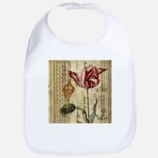 seashells tulip french botanical Bib
