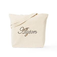 Gold Alyson Tote Bag