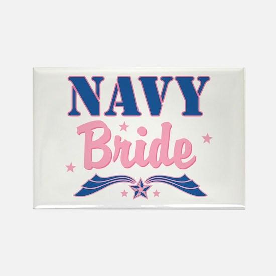 Star Navy Bride Rectangle Magnet