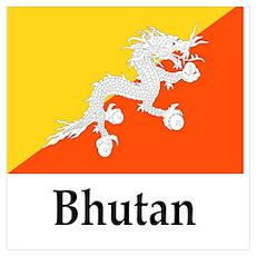 Bhutan Flag Poster