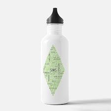 Sims Plumbob Typograph Water Bottle