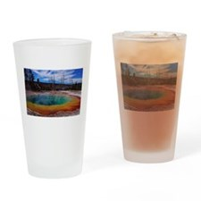 Ice Gold & Green Water Drinking Glass