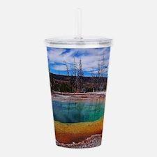 Ice Gold & Green Water Acrylic Double-wall Tumbler