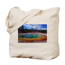 Ice Gold & Green Water Tote Bag