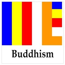 Buddhism Flag Poster