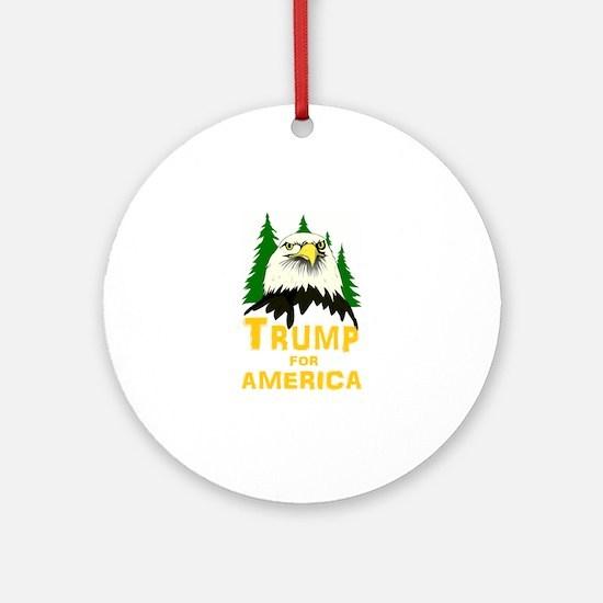 Trump for America Round Ornament