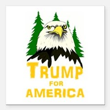 "Trump for America Square Car Magnet 3"" x 3"""