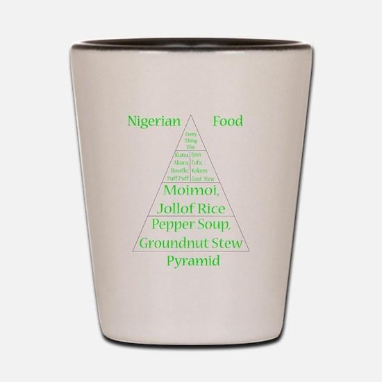 Nigerian Food Pyramid Shot Glass